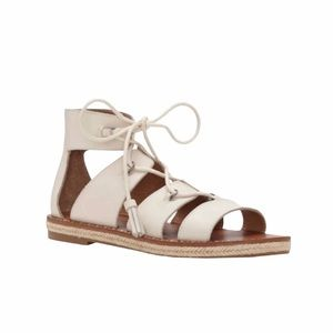 Lucky Brand Dristel White Gladiator Lace Up Sandal